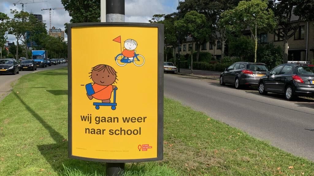 Poster Dick Bruna   Campagne 'wij gaan weer naar school'   Leer in het Verkeer