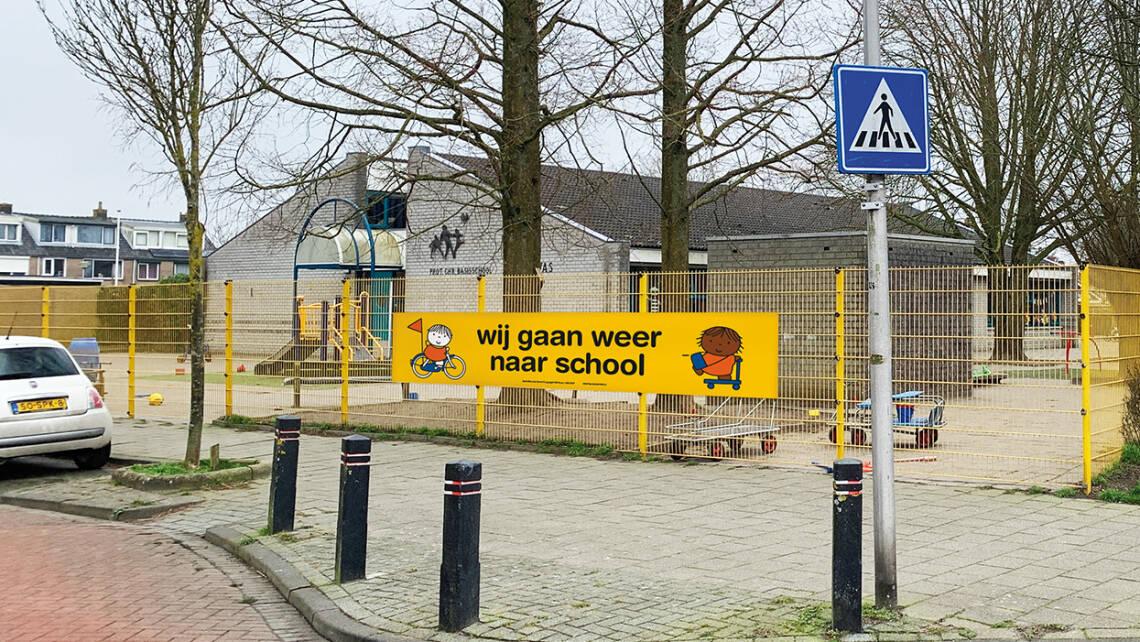 Spandoek | Campagne 'wij gaan weer naar school' | Leer in het Verkeer
