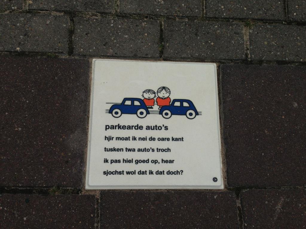 Fryske tegel leer in het verkeer