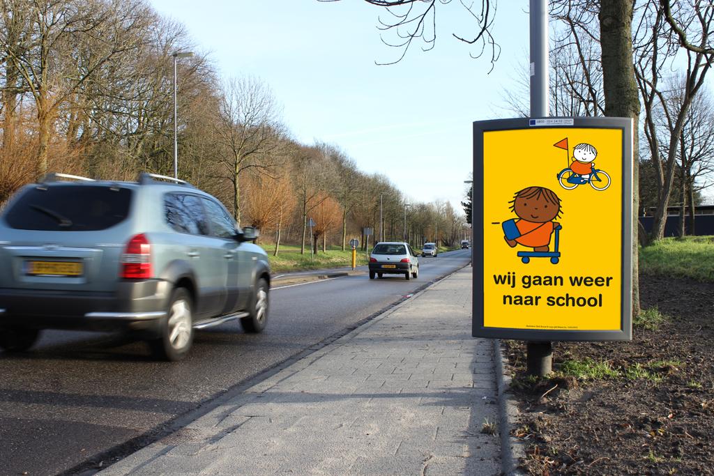 Wij gaan weer naar school campagneposters