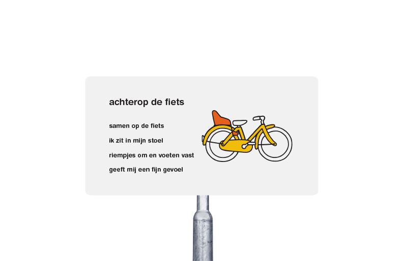 achterop de fiets