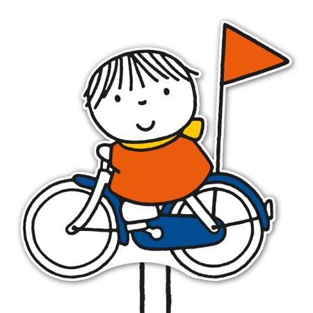 kindje op de fiets