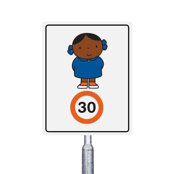 30 km meisje met blauw jurkje (multi)