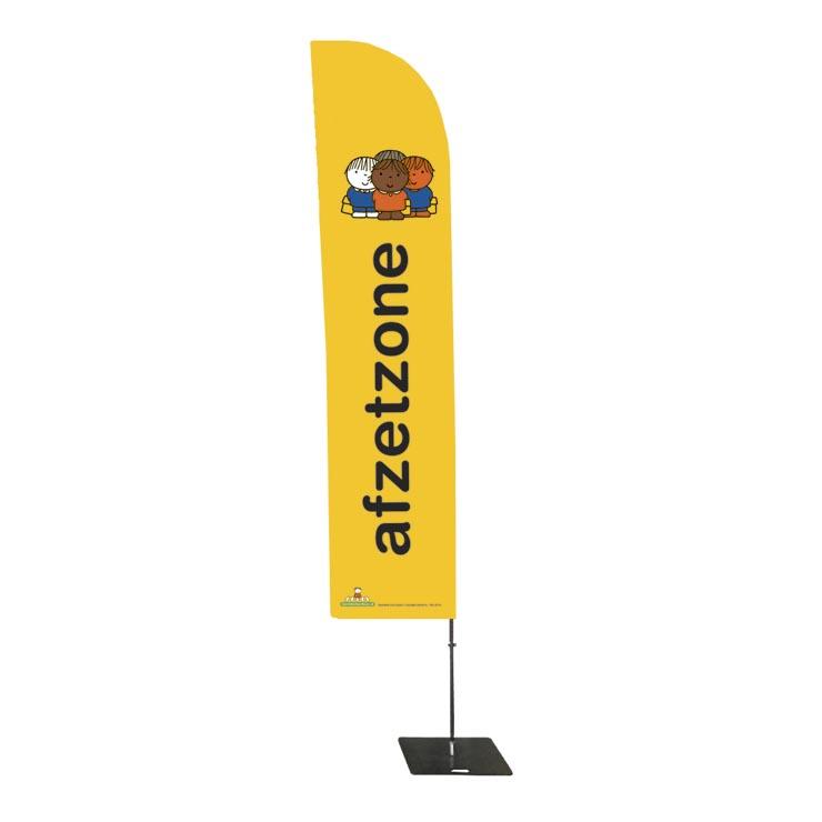 beachflag afzetzone dick bruna vlag voor bij school