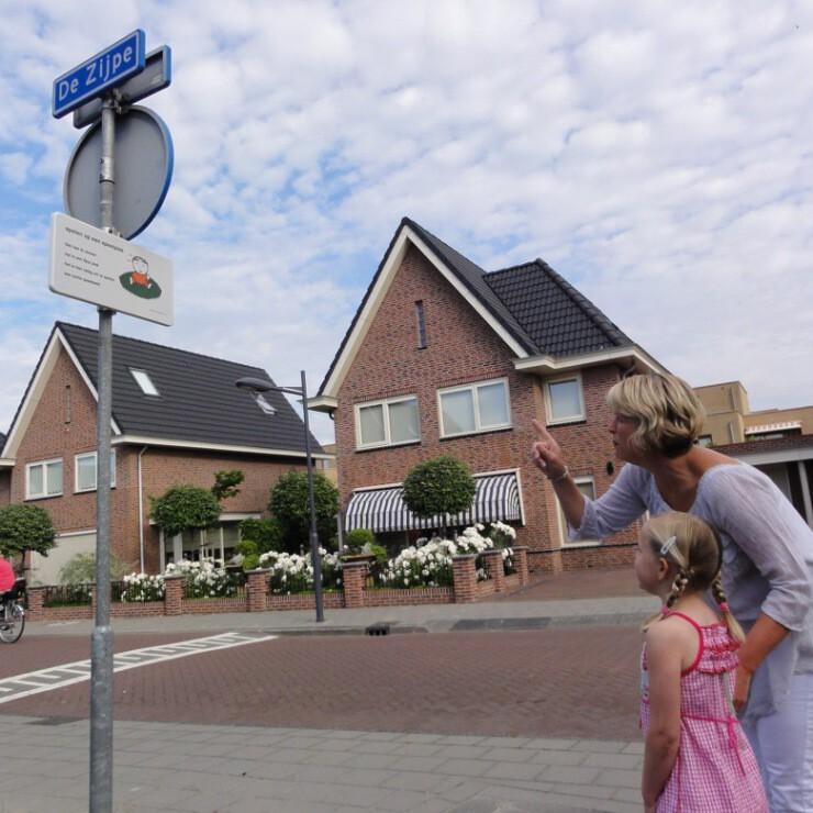 Lesbord voor buiten dick bruna van Nijntje verkeersbord met versje voor kinderen veilig verkeer schoolzone in schoolomgeving verkeersles ouders kids oversteken
