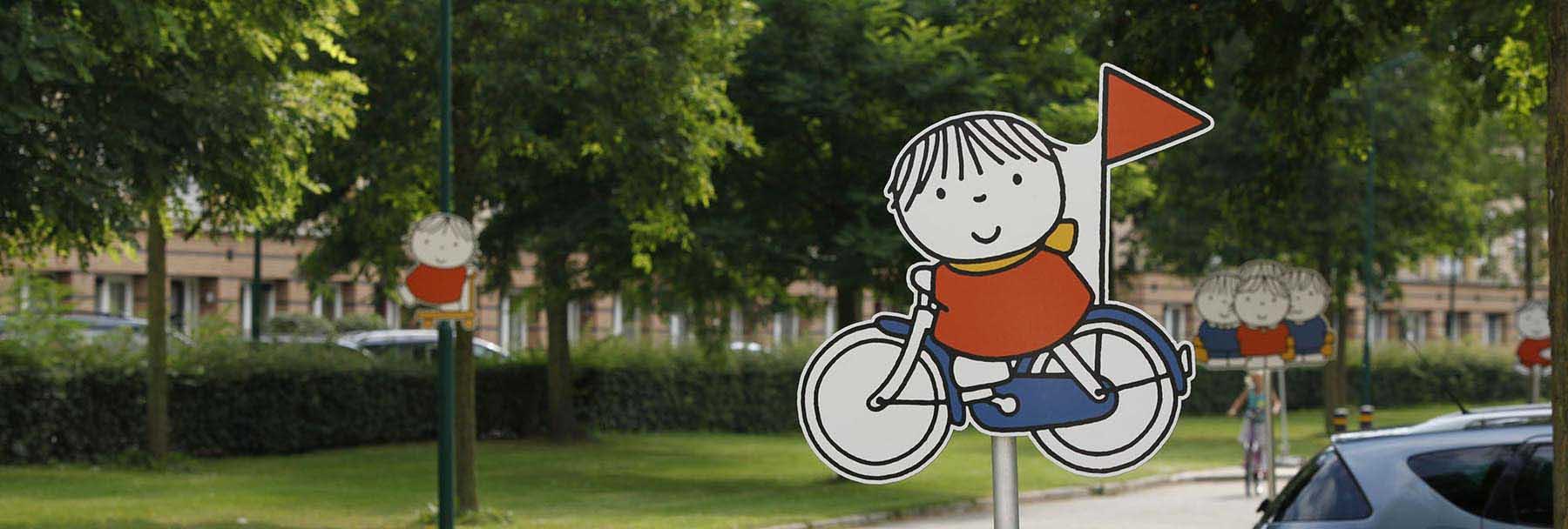 SickBruna-Silhouetbord-fiets